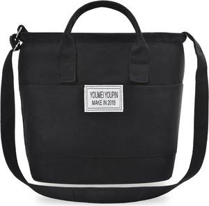 0832679c59783 torba płócienna czarna - stylowo i modnie z Allani