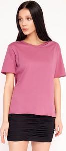 T-shirt Byinsomnia z bawełny z krótkim rękawem z okrągłym dekoltem