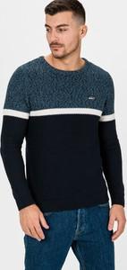 Granatowy sweter Jack & Jones z okrągłym dekoltem