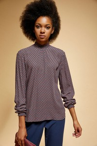 Fioletowa koszula Moodo w stylu casual