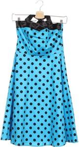 Niebieska sukienka Zarlena trapezowa bez rękawów