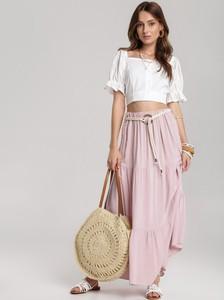 Różowa spódnica Renee maxi w stylu casual