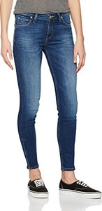 Damskie spodnie dżinsy lee scarlett cropped -