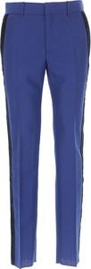 Niebieskie spodnie Alexander McQueen z moheru w stylu casual