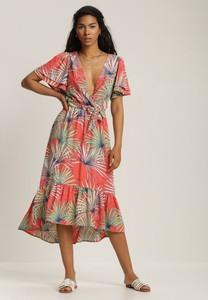 Sukienka Renee midi z dekoltem w kształcie litery v