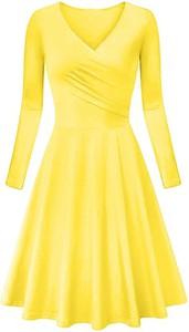 Sukienka Cikelly w stylu casual z dekoltem w kształcie litery v