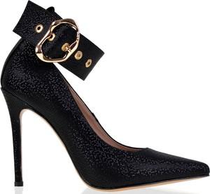 Czarne szpilki lizard-shoes.com ze skóry