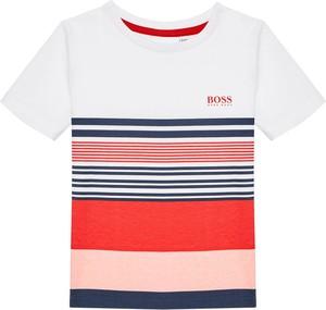 Koszulka dziecięca Hugo Boss dla chłopców w paseczki z krótkim rękawem