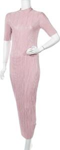 Różowa sukienka Koton z krótkim rękawem midi