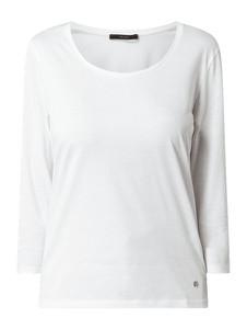 Bluzka Windsor z okrągłym dekoltem z bawełny z długim rękawem