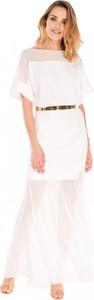 Sukienka L'af Glam z krótkim rękawem z tkaniny