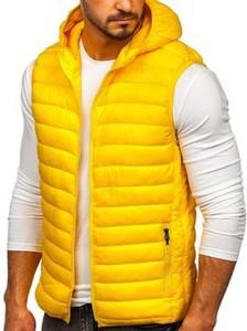 Żółta kamizelka Denley z dresówki w stylu casual