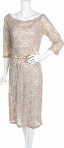Sukienka Suggest z długim rękawem z okrągłym dekoltem