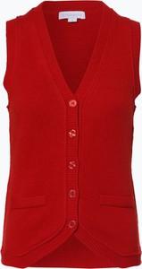 Czerwona kamizelka brookshire w stylu casual z wełny