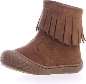 Brązowe buty dziecięce zimowe Naturino ze skóry