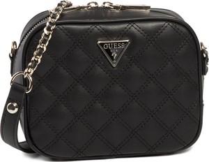 Czarna torebka Guess na ramię mała