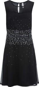 Czarna sukienka bonprix BODYFLIRT boutique mini z okrągłym dekoltem