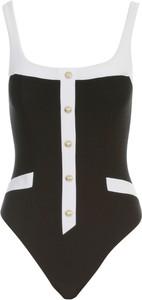 Czarny strój kąpielowy Balmain w stylu casual