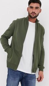 Zielona bluza Asos z dżerseju