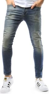 Niebieskie jeansy Dstreet z jeansu w stylu casual