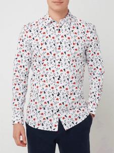 Koszula Only & Sons w bożonarodzeniowy wzór z długim rękawem w młodzieżowym stylu