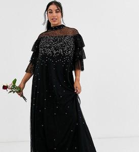 Sukienka Maya Plus z długim rękawem maxi
