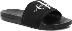 Czarne klapki Calvin Klein w stylu casual