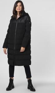 Czarny płaszcz National Geographic w stylu casual