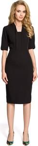 Czarna sukienka MOE z krótkim rękawem