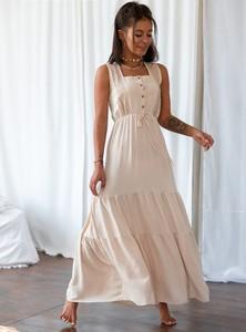 Sukienka SELFIEROOM maxi z dekoltem w kształcie litery v