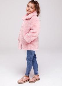 Różowy płaszcz dziecięcy Smoke Furs z dzianiny