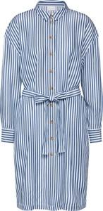Niebieska sukienka Vila z długim rękawem mini w stylu casual