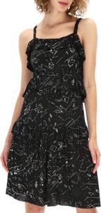 Czarna sukienka Desigual na ramiączkach z okrągłym dekoltem