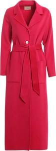 Różowy płaszcz Twinset w stylu casual