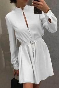Sukienka Ivet.pl z długim rękawem koszulowa