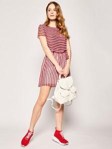 Sukienka Tommy Jeans z krótkim rękawem z okrągłym dekoltem mini