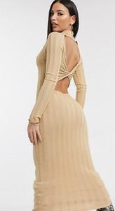 Sukienka Missguided Tall maxi z długim rękawem