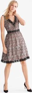 Brązowa sukienka YESSICA midi bez rękawów