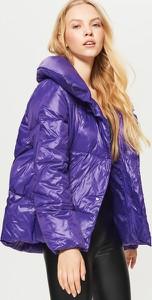 Fioletowa kurtka Cropp krótka w stylu casual