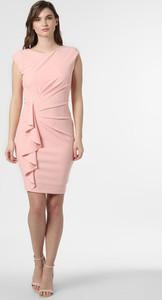 Różowa sukienka Paradi bez rękawów z okrągłym dekoltem