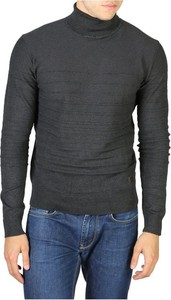 Czarny sweter Yes Zee w stylu casual