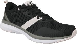 Czarne buty sportowe Under Armour w sportowym stylu z płaską podeszwą sznurowane