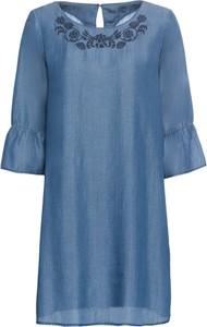 Sukienka bonprix BODYFLIRT oversize z okrągłym dekoltem