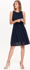 Czarna sukienka Top Secret mini z okrągłym dekoltem