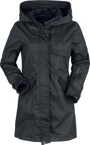Czarna kurtka Emp w stylu casual z bawełny