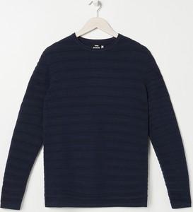 Granatowy sweter Sinsay w stylu casual z dzianiny