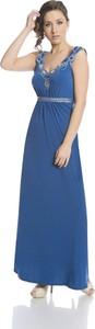 Sukienka Fokus rozkloszowana maxi w stylu glamour