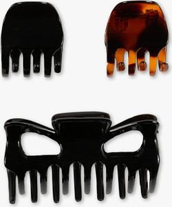 C&A Klamry do włosów – 3 szt., Brązowy, Rozmiar: 1 rozmiar