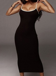 Sukienka Sandbella maxi na ramiączkach bodycon