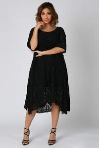 Czarna sukienka Plus Size Company midi